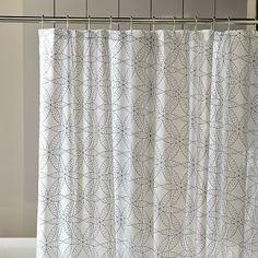 Gerbera shower curtain, $39.00 at West Elm.
