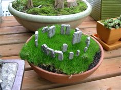how to make a miniature stonehenge garden for the solstice, gardening, how to