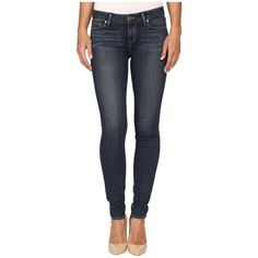 Paige Verdugo Ultra Skinny in Brentyn (Brentyn) Women's Jeans ($189) ❤ liked on Polyvore featuring jeans, blue skinny jeans, stretch jeans, mid-rise jeans, super stretchy skinny jeans and skinny fit jeans
