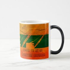 Proud to Be an Operating Engineer COLORFUL MUG - construction business diy customize personalize