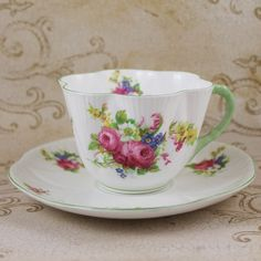 Floral Shelley 13420 English Bone China Dainty by scdvintage, $45.00