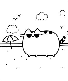 Pusheen Coloring Pages Best For Cat Page Cartoon