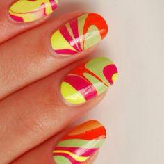 Cute marbled nails