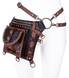Steampunk Studded Holster Bag