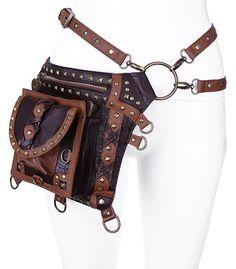 Steampunk Studded Holster Bag