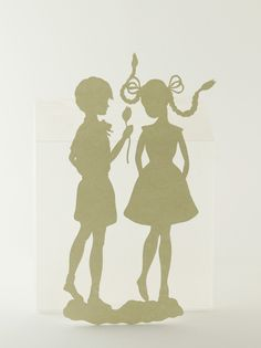 Couple~                                               papercut by Elsa Mora