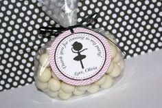 Ballerina Favor Tags 24  Silhouette by The by ThePartyPaperFairy, $20.00
