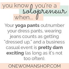 The Solopreneur Lifestyle: this describes exactly how my wardrobe and clothing works!