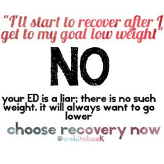 Choose recovery now. #eatingdisorders #EDrecovery