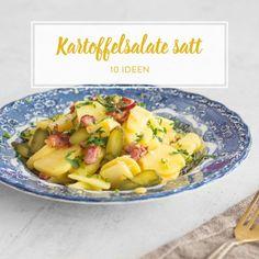 Deftiges Bauernfrühstück mit Bratkartoffeln und Speck
