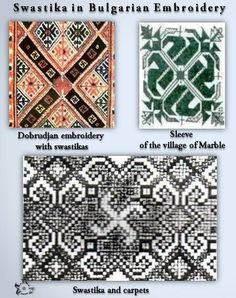 Swastika in Bulgarian Embroidery  by Ⓜ.Ⓚ.Ⓟ.