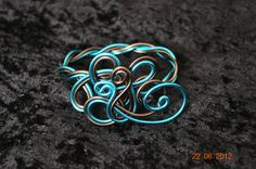 tuto fil aluminium plat   Bracelet tressé bleu et chocolat - Cathoo crea création de bijoux
