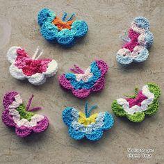 No lugar que chamo Casa...: Borboletas em crochet
