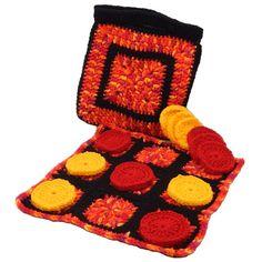 $1.99 - Tic Tac Toe in a Bag - A Crochet pattern from jpfun.com