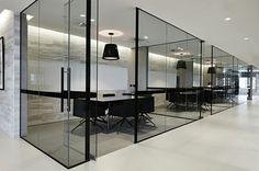 Office, Modern, Black Windows
