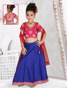 0fb1f26a8 Silk plain lehenga choli in blue color - G3-GCS0551