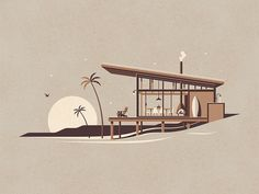 La Jolla Art Print by DKNG