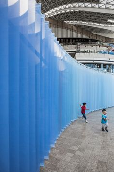 studio O symphony of blues installation beijing design week 2015 designboom