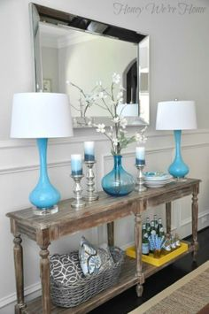 Dining Room styling with World Market Everett Foyer Table