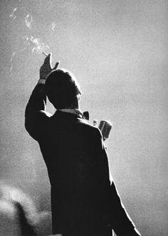 Photography- Frank Sinatra, Monte Carlo, 1958 Photo: Herman Leonard
