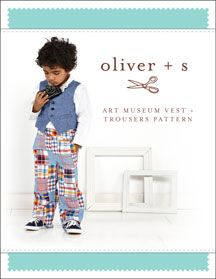 Art Museum Vest + Trousers Sewing Pattern - Oliver + S