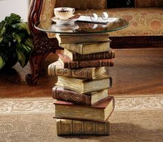 Stack of Books End Table | DROOL'D