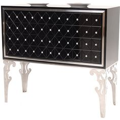 "Hollywood Swank 46"" Sideboard ($1,299) ❤ liked on Polyvore featuring home, furniture, storage & shelves, sideboards, drawer furniture and hollywood furniture"