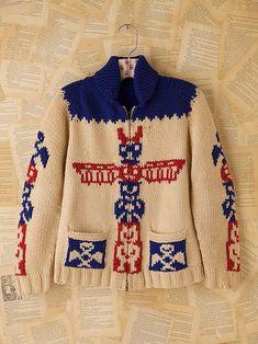 Free People Vintage 1960s Wool Cardigan, $398.00
