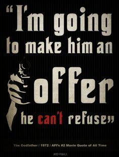 don vito corleone in the godfather 1972 Classic Movie Quotes, Favorite Movie Quotes, Famous Movie Quotes, Film Quotes, Best Quotes, Classic Films, Mafia Party, Godfather Quotes, Godfather Movie
