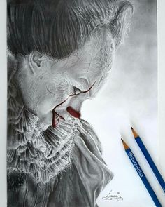 😮😮 this beautiful! Horror Movie Characters, Horror Movies, Arte Horror, Horror Art, Drawing Sketches, Pencil Drawings, Drawing Stuff, Scary Art, Creepy