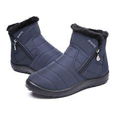 0ab380d6e7b2b Gracosy Bottes de Neige Femmes Filles, Chaussures Ville Hiver Bottines de  Pluie Imperméable avec Fourrure à Talons Plats Boots Intérieur Fourrée  Chaude ...