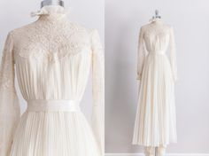 Vintage 1970s victorian revival gown, Fine & Fleurie private collection