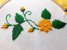 Awesome Most Popular Embroidery Patterns Ideas. Most Popular Embroidery Patterns Ideas. Basic Embroidery Stitches, Hand Embroidery Videos, Hand Embroidery Flowers, Silk Ribbon Embroidery, Crewel Embroidery, Hand Embroidery Patterns, Embroidery Techniques, Brazilian Embroidery, Stitch Design