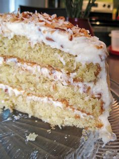Coconut Cream Butter Cake- made this for mil's birthday. Moist, best butter cake recipe I have found. For me, this recipe only filled two cake pans. Sweet Recipes, Cake Recipes, Dessert Recipes, Cupcakes, Cupcake Cakes, Coconut Cream, Cream Butter, Toasted Coconut, Coconut Pecan