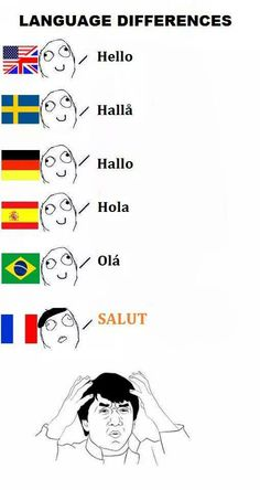 Nah Salut is actually the best way to say hello lol