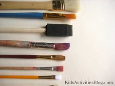 art activities for kids exploring paint brushes