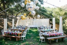 Outdoor Wedding #ReceptionDecor I Bright Blue Events I #reception