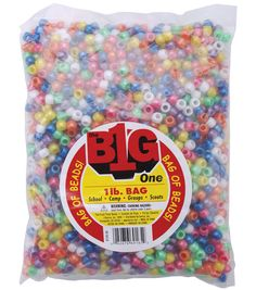 Darice 1 lb. Pony Beads-PearalizedDarice 1 lb. Pony Beads-Pearalized,