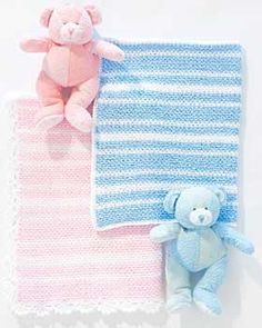 What a sweet baby blanket, the perfect easy project and a wonderful gift. Boy's: approx 28 ins x 34.75 ins [71 cm x 88.5 cm]. Girl's: approx 30 ins x 36.75 ins [76 cm x 93.5 cm]. Crochet in Bernat Baby Coordinates on size 5 mm (U.S. H or 8) hook.