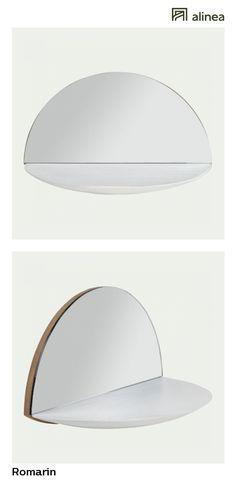 Alinea : Romarin Miroir Mural Avec étagère 18x30cm Déco Décoration Murale  Miroirs   #Alinea #