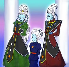 Grand Priest and his children Whis and Vados Daishinkan Sama, Trunks And Mai, Robot Monster, Samurai Jack, Dragon Ball Gt, Anime Scenery, Best Dad, Mythical Creatures, Princess Zelda