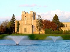 The castle-like Water Treatment Plant or Saginaw Water Works Castle is located at 522 Ezra Rust Drive in Saginaw, Michigan.