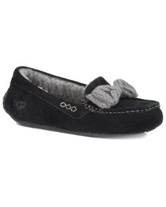 UGG Women's Ansley Knit Bow Water-Resistant Suede Slip-On is on Rue. Shop it now.