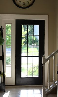 This decorator had a window and door supplier cut her full privacy door and add the glass insert!! one hundred dollar project instead of well over a thousand! WOW!