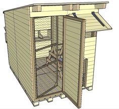 Building an Easy and Fast Chicken Coop Backyard Chicken Coops, Chickens Backyard, Chicken Barn, Pigeon Loft, Farnsworth House, Loft Plan, Palomar, Duck House, Organic Eggs
