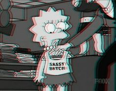 grunge bitch | bitch, dark grunge, grunge, lisa simpson, sassy, the simpsons