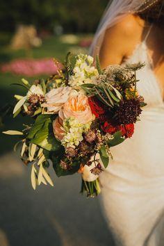 Gorgeous garden bouquet: http://www.stylemepretty.com/canada-weddings/2015/03/20/glamorous-toronto-wedding/   Photography: Taylor Roades Photography - www.taylorroades.com
