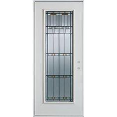 Stanley Doors - Full Lite Painted Steel Entry Door - 1500P-P-36-L - Home Depot Canada