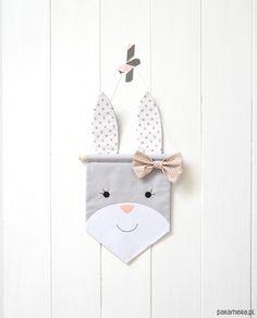 pokój dziecka - obrazy i plakaty-Proporczyk królik