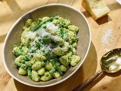 Gnocchi Pesto Pasta Salad Recipe from Food Network  Try with sun-dried tomato pesto and Greek yogurt instead of mayo